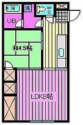 埼玉県さいたま市南区鹿手袋1丁目の賃貸マンションの間取り