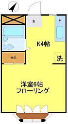 杉崎ハイツ[203号室]の間取り