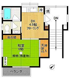 松波荘[201号室]の間取り