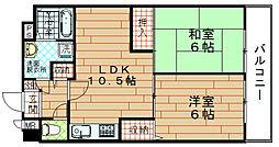 富士プラザ3[11階]の間取り