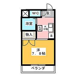 ラハイナハイツパートIII[4階]の間取り