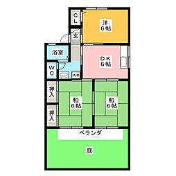 セジュール東山C棟[1階]の間取り