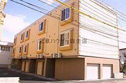 北海道札幌市北区篠路一条8丁目の賃貸アパートの外観