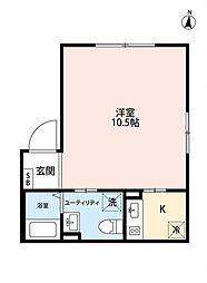 エアリアル錦糸町 2階1Kの間取り