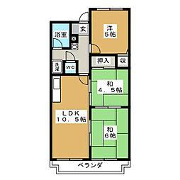 コンフォート清水[3階]の間取り