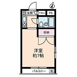 ブライトコート壱番館[2階]の間取り