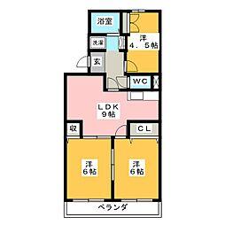 メゾンイール[3階]の間取り