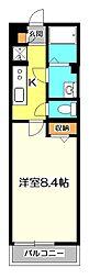 東京都国立市北3丁目の賃貸マンションの間取り