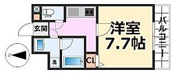 メゾン hana hana[102号室号室]の間取り