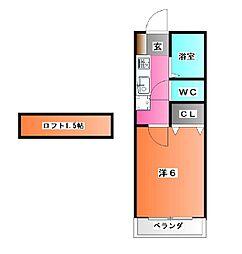 アクシスミシマ[2階]の間取り