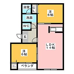 第2MHハウスI[2階]の間取り
