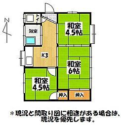 [一戸建] 福岡県大牟田市大字白銀 の賃貸【/】の間取り
