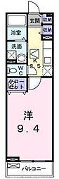 大阪府枚方市東山1丁目の賃貸アパートの間取り