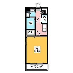 コンフォート第2岩倉[2階]の間取り