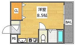 フェリセ富田[2階]の間取り
