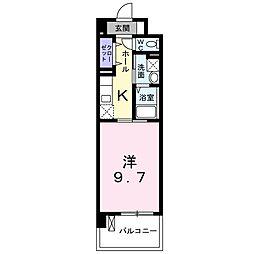 JR川越線 西大宮駅 徒歩1分の賃貸マンション 3階1Kの間取り