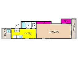 兵庫県神戸市東灘区西岡本4丁目の賃貸マンションの間取り
