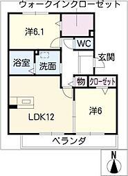 エ・コモド[2階]の間取り