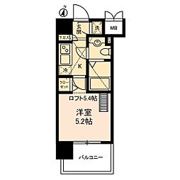 ヴェルステージ川崎[12階]の間取り