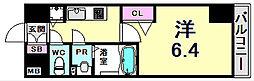 プレサンスみなと元町駅前 4階1Kの間取り