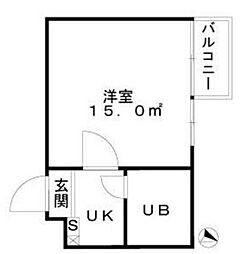 東京都北区浮間4の賃貸マンションの間取り
