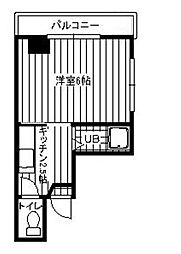 第一沢登マンション[4階]の間取り