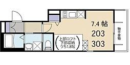 東京都中野区新井5丁目の賃貸アパートの間取り