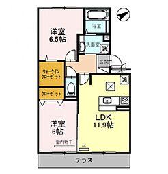 Casa raffine 瀬田A[303号室号室]の間取り