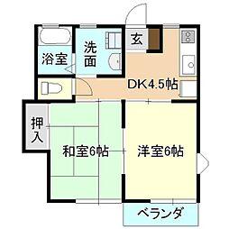 ブルーマウンテン[2階]の間取り