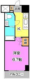 プラウドフラット富士見台[7階]の間取り