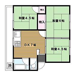 神奈川県横浜市磯子区洋光台の賃貸マンションの間取り