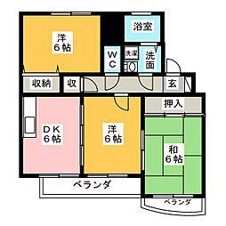 ヴァーテュー1[1階]の間取り