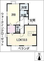セジュール445[3階]の間取り