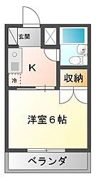レナジア京成大久保[2階]の間取り