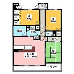 藤和シティホームズ大須903号室[9階]の間取り