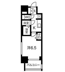 名鉄名古屋本線 山王駅 徒歩9分の賃貸マンション 9階1Kの間取り