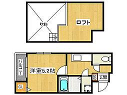 ベネフィスタウン井尻[2階]の間取り