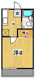 マンハイツII[1階]の間取り