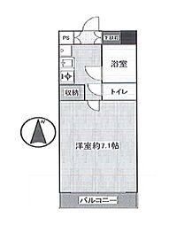 エクセレント多摩川 bt[504kk号室]の間取り