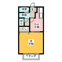 パークハイム中央[1階]の間取り