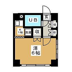 MYアパートメント[4階]の間取り