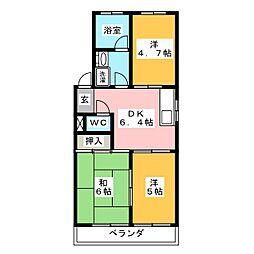 くまのマンション[3階]の間取り