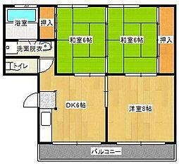 延平コーポ[2階]の間取り