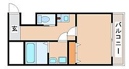JR山陽本線 須磨駅 徒歩7分の賃貸アパート 1階1Kの間取り