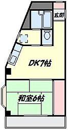 クレールハイツ[1階]の間取り