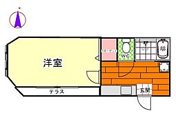 9番地エルハウス[1階]の間取り