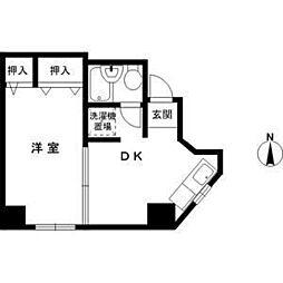 二宮町パークビル[4階]の間取り