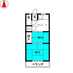暁荘[1階]の間取り