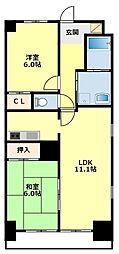 愛知県豊田市東新町3の賃貸マンションの間取り