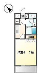埼玉県本庄市児玉町共栄の賃貸アパートの間取り